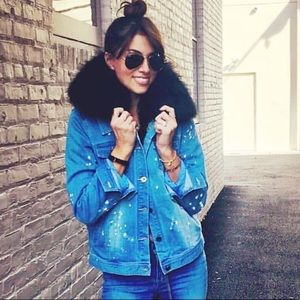 3 in 1 denim and fur jacket!! In amazing condition